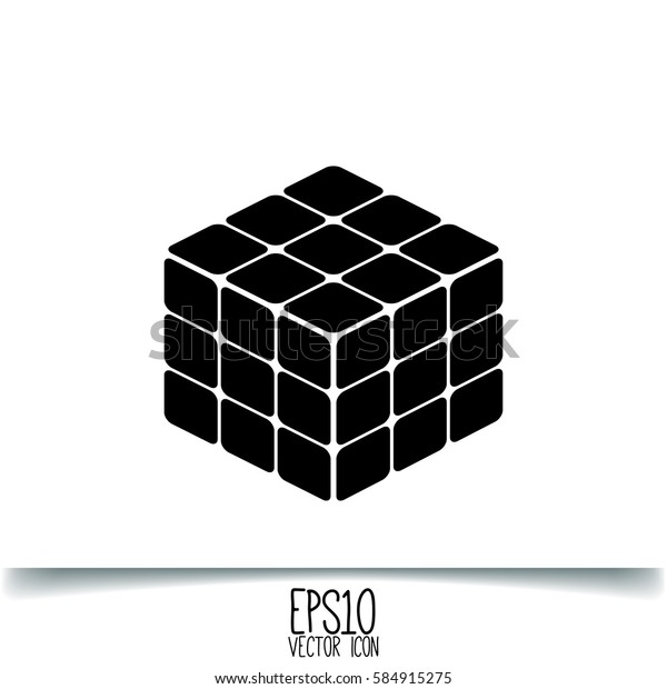 Toy Cube Vector Icon Web Stock Stock Vector (Royalty Free