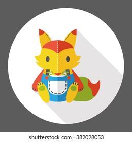 toy fox flat icon
