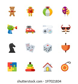Toy Icons : Flat Icon Set for Web and Mobile Application