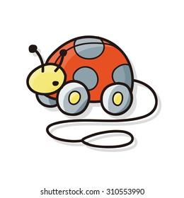 toy ladybug car doodle