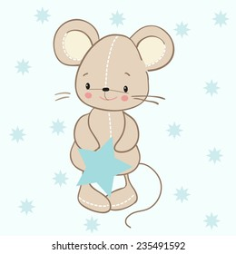 toy mouse with a star