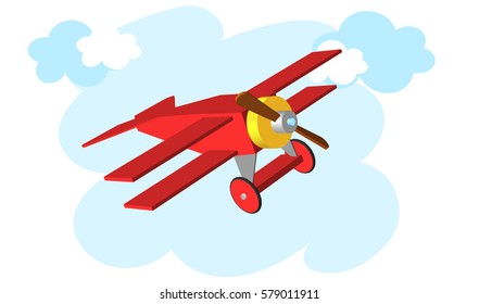 Toy plane. Airplane Vector illustration eps 10