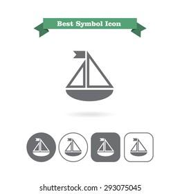 Toy ship icon