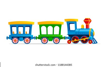 Toy train cartoon vector illustration.