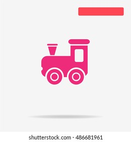 Toy train icon. Vector concept illustration for design.