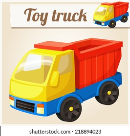 Toy truck. Cartoon vector illustration. Series of children's toys