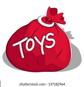 Toys Bag Vector Illustration