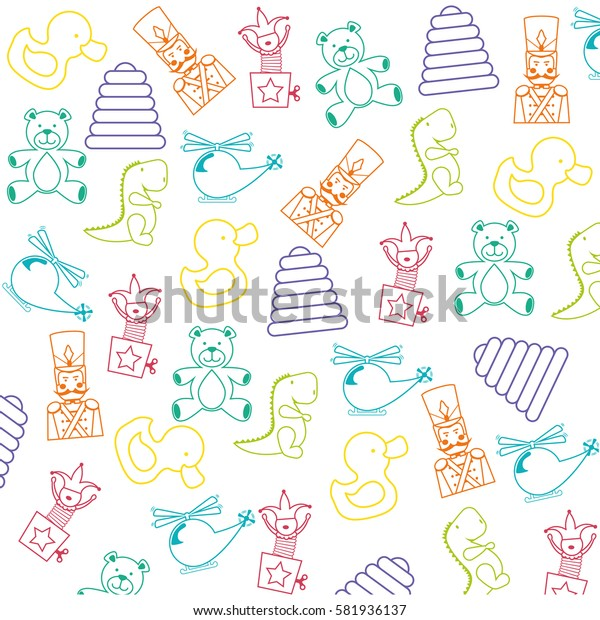 Toys for childrens icon vector illustration graphic design