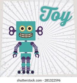 Toys design over striped background, vector illustration