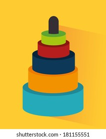 toys design  over yellow background vector illustration