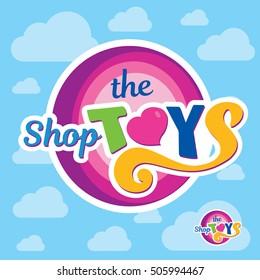 toys shop creative logo