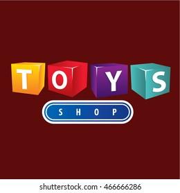 toys shop logo cube