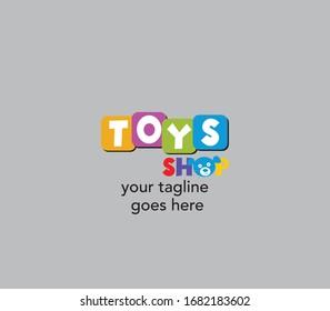 Toys shop vector logo design, Toy shop Creative logo design