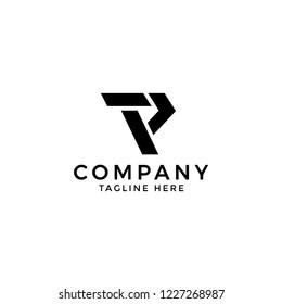TP inital letters logo design