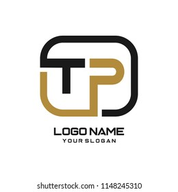 TP initial box letter logo template vector