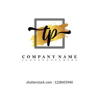 TP Initial handwriting logo concept