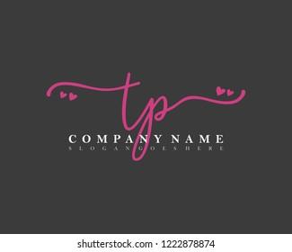 TP Initial handwriting logo vector