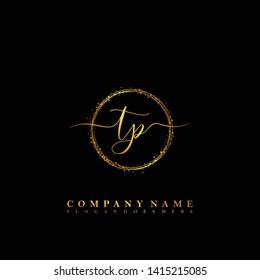 TP Initial luxury handwriting logo vector
