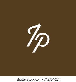 TP Letter creative square background