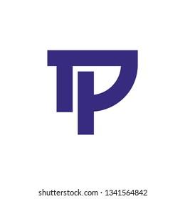 tp letter vector logo