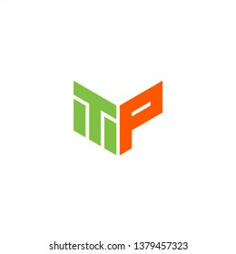 TP Logo Letter Initial With Green and Orange Colors