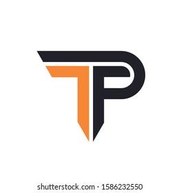 TP, PT Letter Logo Design Template Vector