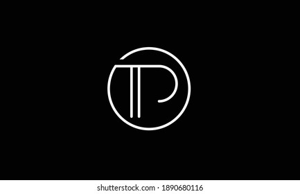 TP, PT, T, P  abstract vector logo monogram template