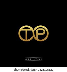 TP T P initial letter linked circle capital monogram logo modern template
