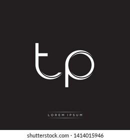 tp t p Logo Initial Letter Split Lowercase Modern Monogram