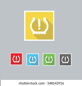 TPMS Icons (Tyre Pressure Monitoring System)