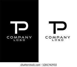 tp/pt initials company logo vector