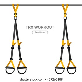 TPX loop training equipment. Sport vector concept