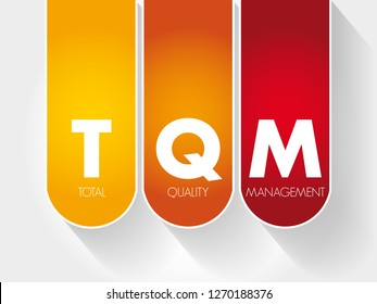TQM - Total Quality Management acronym, business concept background