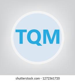 TQM (Total Quality Management) acronym- vector illustration