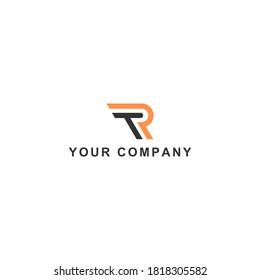 TR icon vector logo design. TR template quality logo symbol inspiration