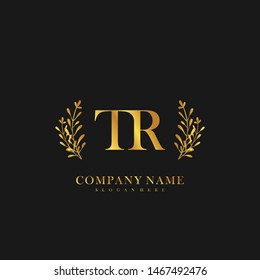 TR Initial beauty floral logo template