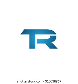 TR initial company linked letter logo