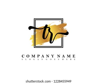 TR Initial handwriting logo concept
