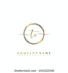 TR Initial luxury handwriting logo vector