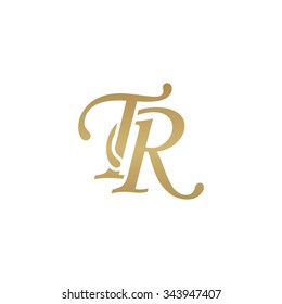 TR initial monogram logo