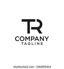 TR initials logo classic black color