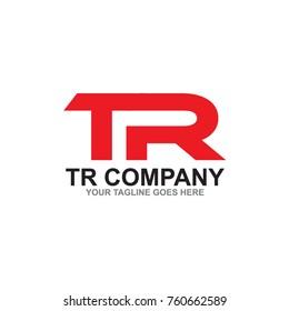 TR letter logo design