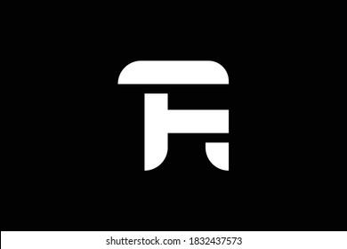 TR letter logo design on luxury background. RT monogram initials letter logo concept. FR icon design. RF elegant and Professional letter icon design on black background. FR RF TR RT