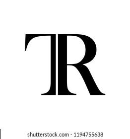 tr letter vector logo