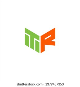 TR Logo Letter Initial With Green and Orange Colors