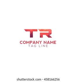 tr polygonal logo