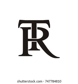TR or RT  logo initial letter design template vector
