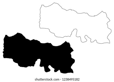 Trabzon (Provinces of the Republic of Turkey) map vector illustration, scribble sketch Trabzon ili map