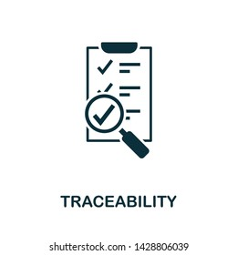 Traceability vector icon illustration. Creative sign from quality control icons collection. Filled flat Traceability icon for computer and mobile. Symbol, logo vector graphics.