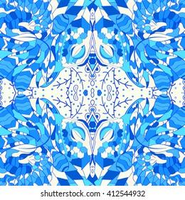 Tracery seamless calming pattern. Mehendi design.